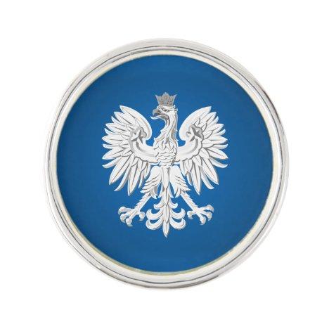 Polish eagle lapel pin