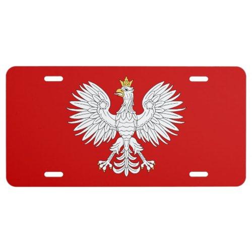 Polish Eagle License Plate