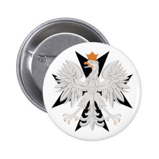 Polish Eagle Maltese Cross Pinback Buttons