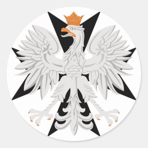Polish Eagle Maltese Cross Classic Round Sticker