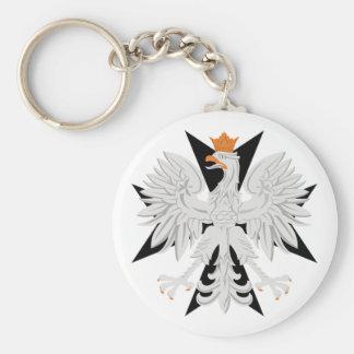 Polish Eagle Maltese Cross Keychain