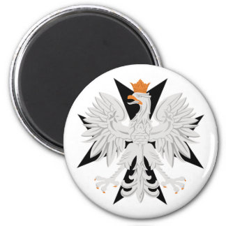 Polish Eagle Maltese Cross Magnet