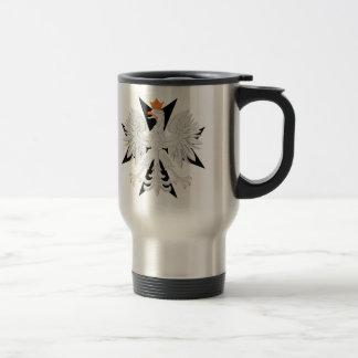 Polish Eagle Maltese Cross 15 Oz Stainless Steel Travel Mug