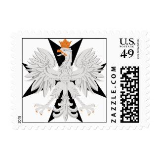 Polish Eagle Maltese Cross Postage