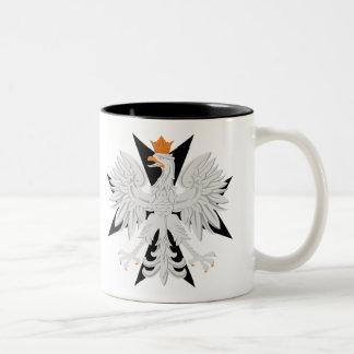 Polish Eagle Maltese Cross Two-Tone Coffee Mug