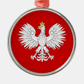 Polish Eagle Metal Ornament