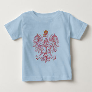 Polish Eagle Outlined In Red Baby T-Shirt