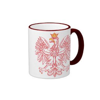 Polish Eagle Outlined In Red Mug