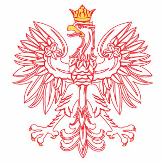 Polish Eagle Outlined In Red Photo Cut Out