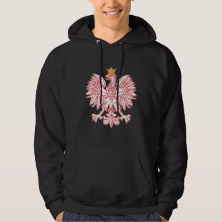 Polish Eagle Outlined In Red Sweatshirt