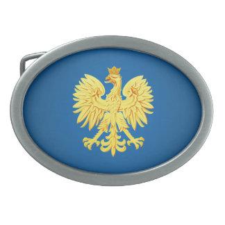 Polish eagle oval belt buckle
