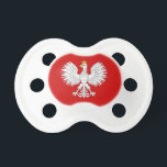 "Polish Eagle Pacifier<br><div class=""desc"">This design is based on the white eagle found in the national coat of arms of Poland.</div>"