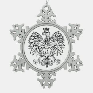 Polish Eagle Pewter Ornament