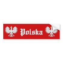 Polish Eagle Polska Bumper Sticker