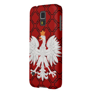 Polish Eagle Red Barbed Quatrefoil Pattern Case For Galaxy S5