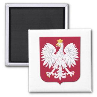Polish Eagle Red Shield 2 Inch Square Magnet