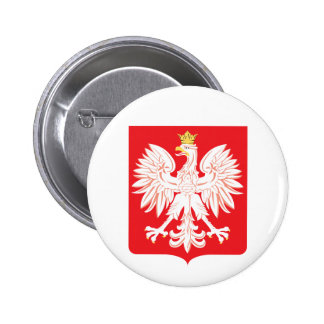 Polish Eagle Red Shield Button