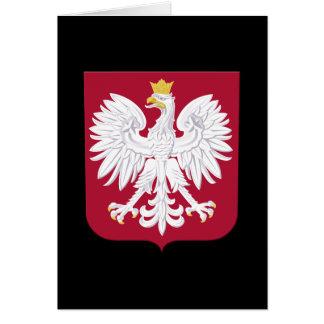 Polish Eagle Red Shield Card