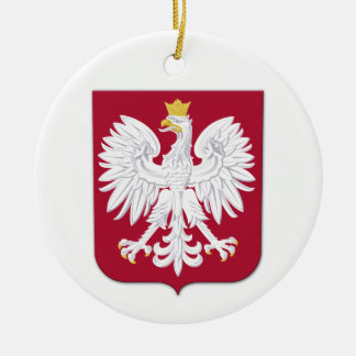 Polish Eagle Red Shield Ceramic Ornament