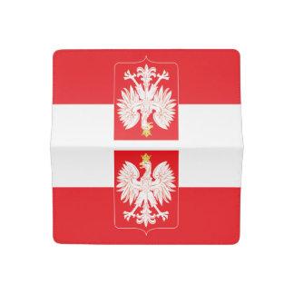 Polish Eagle Red Shield Checkbook Cover