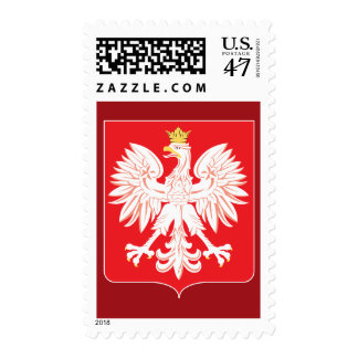 Polish Eagle Red Shield Custom Postage