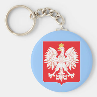 Polish Eagle Red Shield Key Ring
