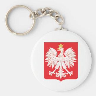 Polish Eagle Red Shield Keychain