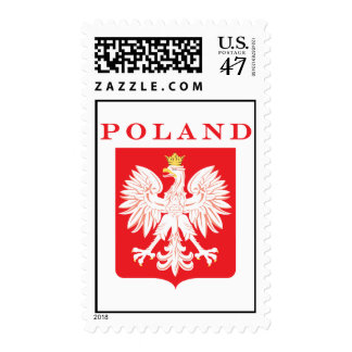 Polish Eagle Red Shield Postage