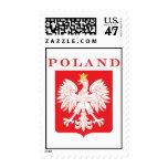 Polish Eagle Red Shield Postage Stamp