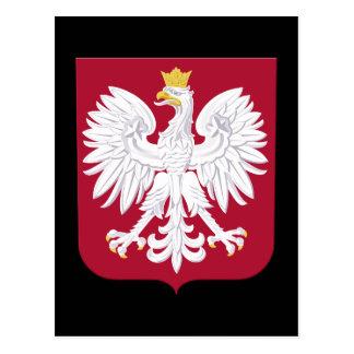 Polish Eagle Red Shield Postcard