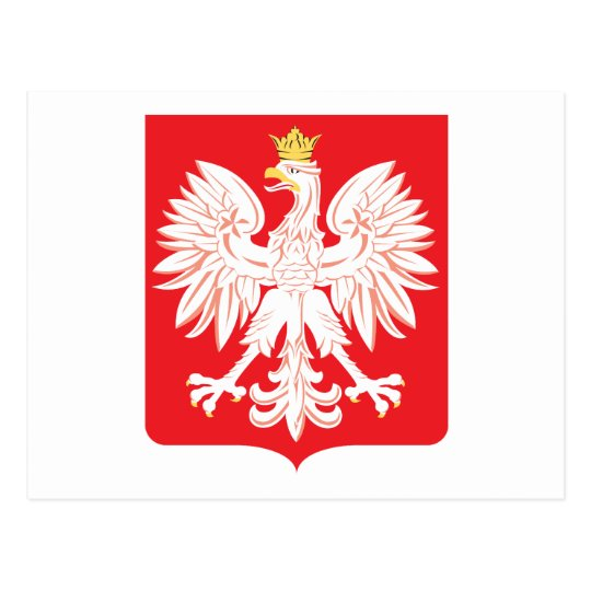 Polish Eagle Red Shield Postcard