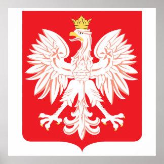 Polish Eagle Red Shield Poster