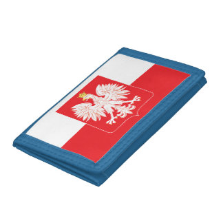 Polish Eagle Red Shield Trifold Wallet