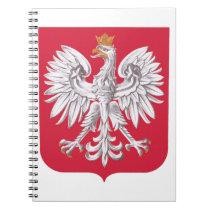 Polish Eagle Shield Spiral Notebook