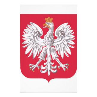 Polish Eagle Shield Stationery