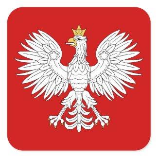 Polish Eagle Square Sticker
