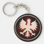 Polish Eagle Vintage Basic Round Button Keychain