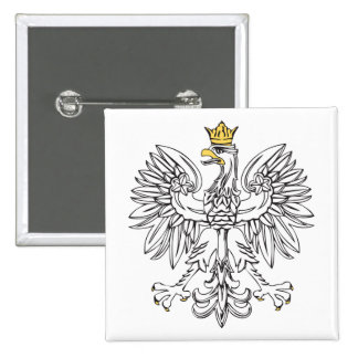 Polish Eagle With Gold Crown Button