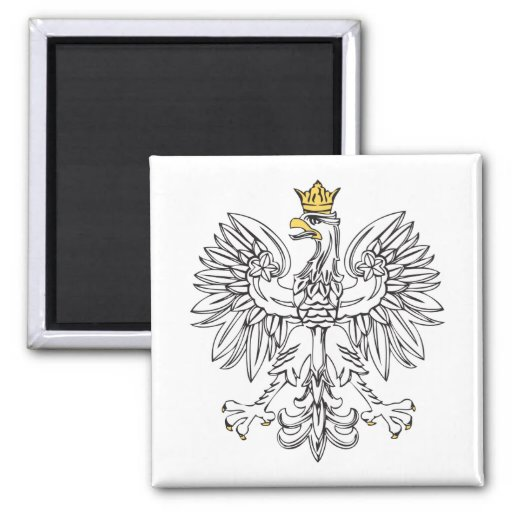 Polish Eagle With Gold Crown Fridge Magnet