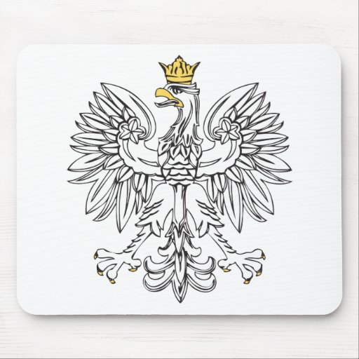 Polish Eagle With Gold Crown Mouse Pads