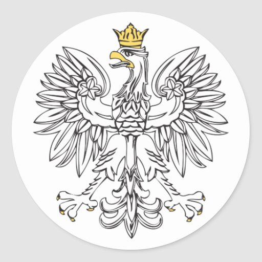 Polish Eagle With Gold Crown Sticker