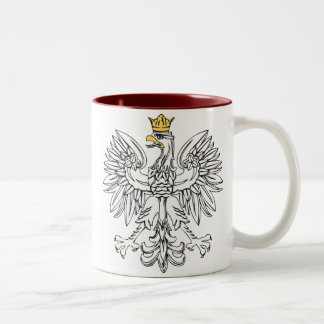 Polish Eagle With Gold Crown Two-Tone Coffee Mug