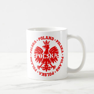 Polish Eagle with Poland Polska Text Coffee Mug
