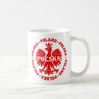 Polish Eagle with Poland Polska Text Coffee Mug