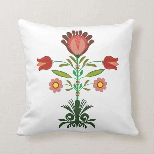 Polish Embroidery Flowers Pattern, Pillow