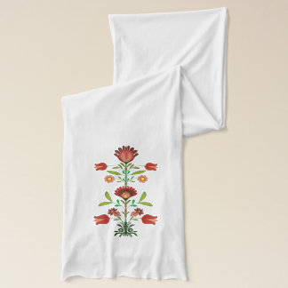 Polish  Embroidery Flowers Pattern, Scarf