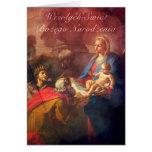 Polish/English Christmas Card - Adoration