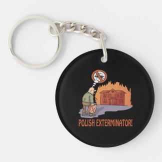 Polish Exterminator Double-Sided Round Acrylic Keychain