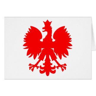 Polish Falcon (Eagle) Card