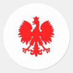 Polish Falcon (Eagle) Classic Round Sticker